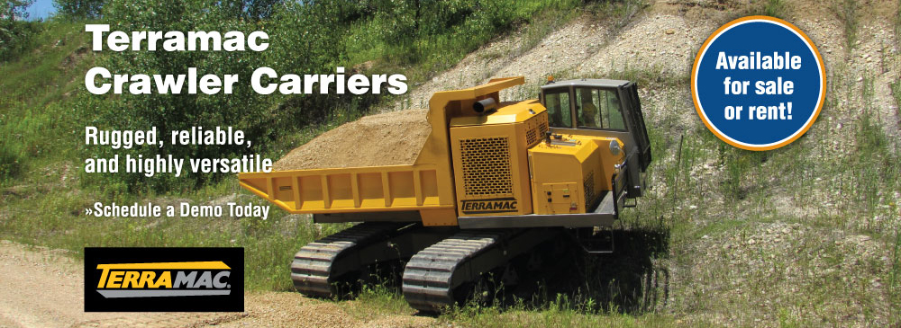Terramac makes rugged, reliable, and versatile crawler carrier equipment. Stop in for a demo
