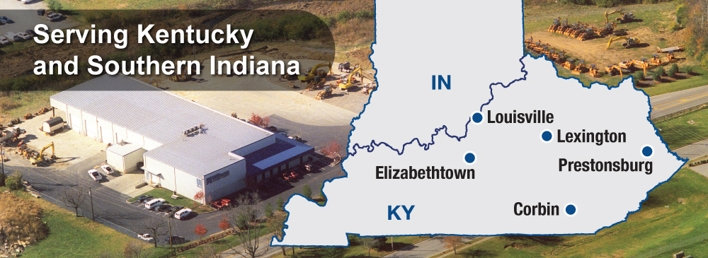 We sell, service, and rent construction equipment throughout Kentucky from our locations in, Louisville, Elizabethtown, Lexington, Prestonsburg, and Corbin
