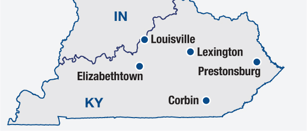 Equipment sales and repair shops throughout Kentucky